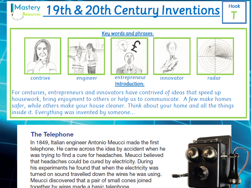 19th and 20th Century Inventions Comprehension KS2