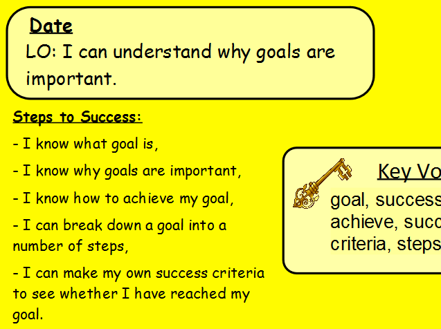 PSHE goals, responsibility and overcoming obstacles 3 lesson bundle!