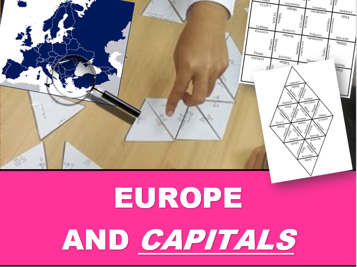 EUROPE AND CAPITALS: Tarsia Puzzle (45 countries)