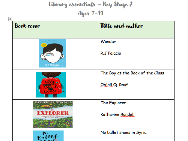Library essentials - Key Stage 2