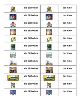Orte (Places in German) Dominoes