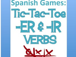 ER/IR verbs: Spanish Tic-Tac-Toe Game