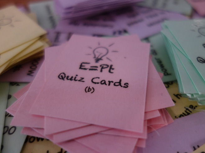 Power energy time equation question cards