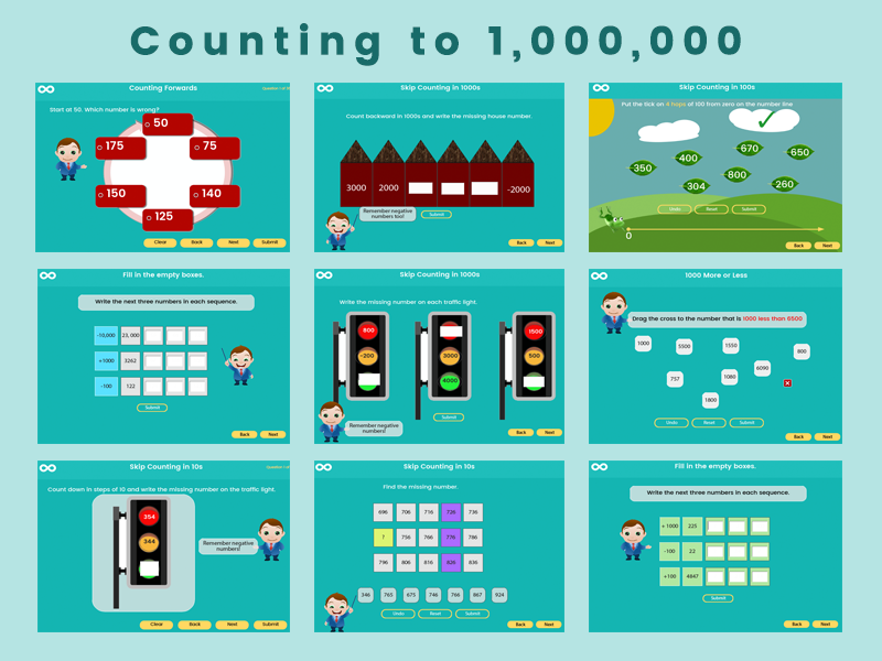 Counting to 1, 000, 000 - Year 5 Key stage 2