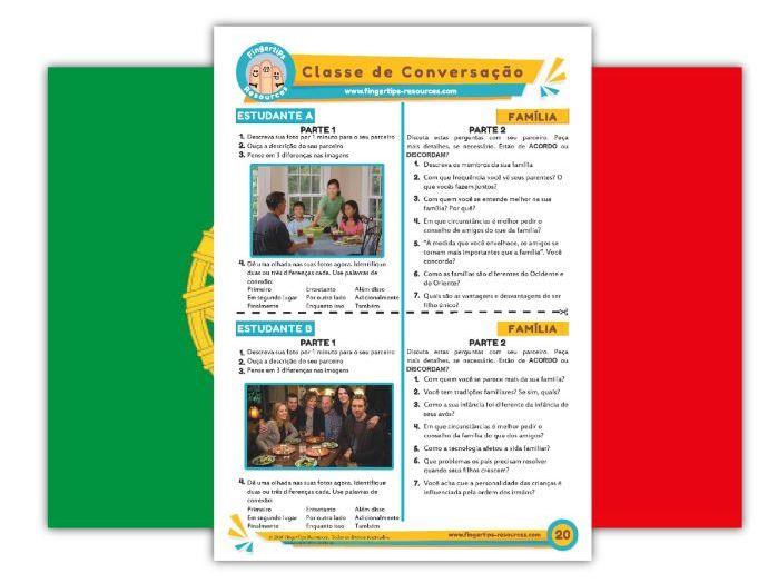 Família - Portuguese Speaking Activity