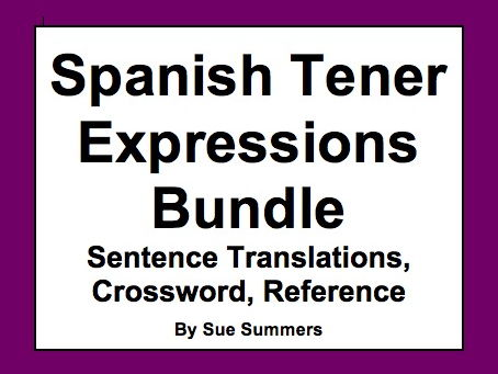 Spanish Tener Expressions Bundle of 7