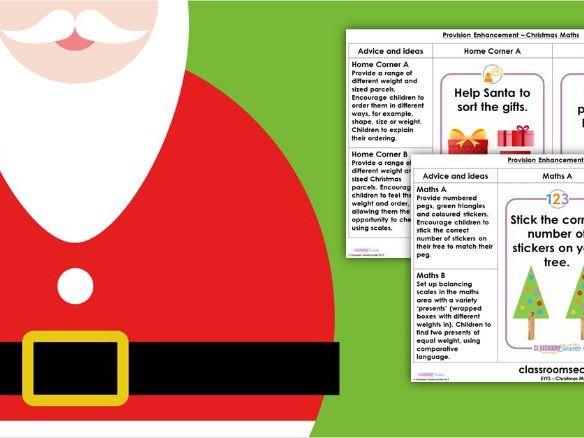 EYFS Provision Enhancement Christmas Maths