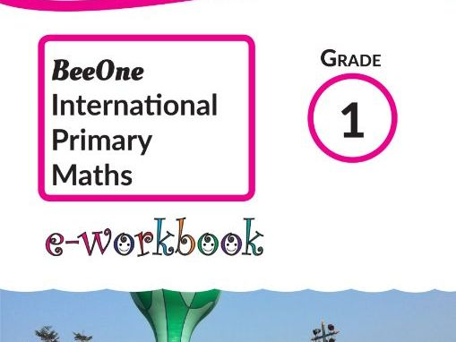 Grade 1 Maths Workbook of 346 pages from BeeOne Books