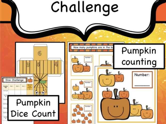 Halloween Pumpkin Number Challenge