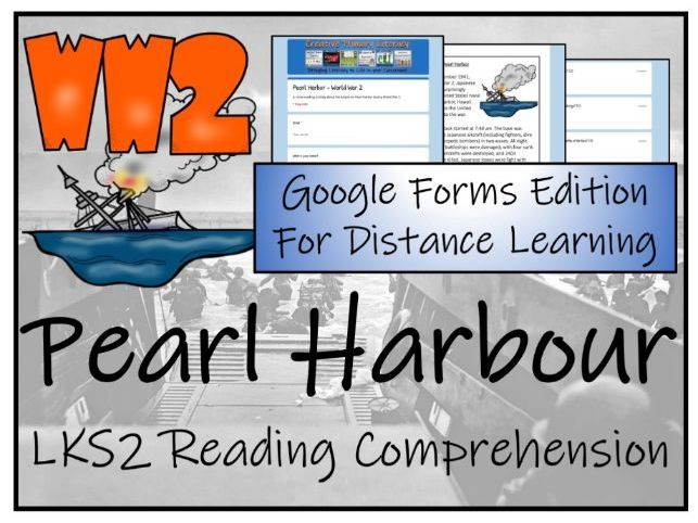 LKS2 Attack on Pearl Harbour Reading Comprehension Activity | Digital & Print