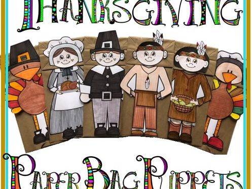 Thanksgiving Craft - Thanksgiving Paper Bag Puppets #2