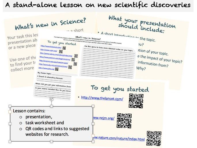 Stand-alone lesson on Scientific Discoveries