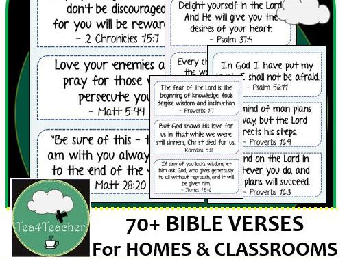 Bible Verses for Home & Classroom Frieze x70+ Encouraging & Motivational