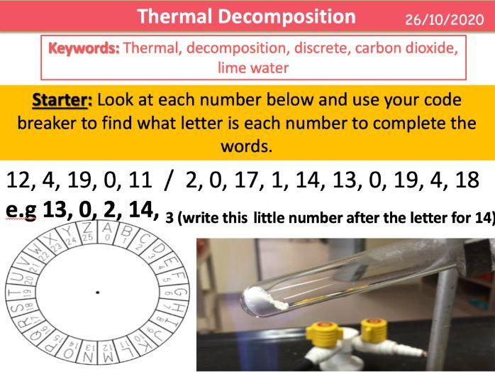 Thermal Decomposition (KS3)