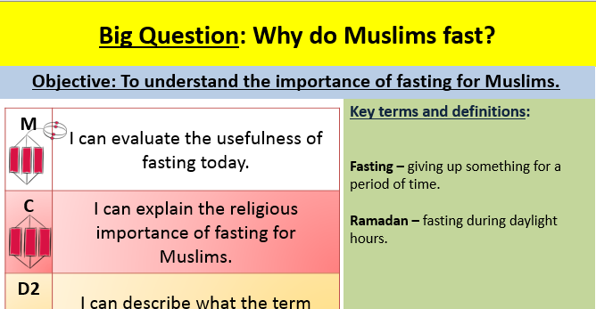 Fasting and Ramadan lesson