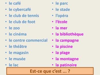 Bien Dit 1 Chapitre 5 Endroits (Places) TPRS vocabulary activities