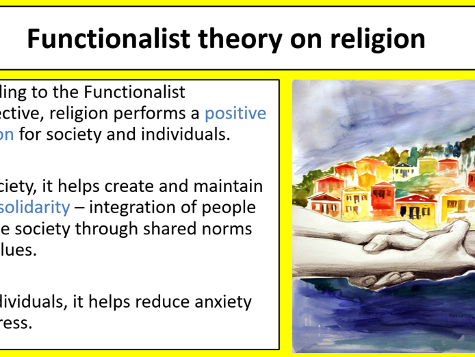 ALevel Sociology - Beliefs in society - Functionalist theory of religion
