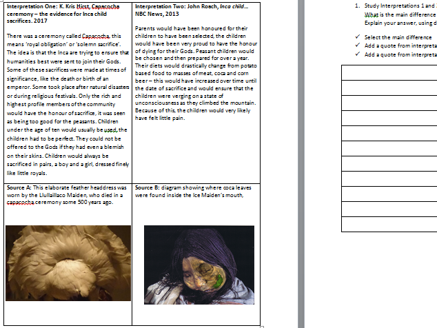 Baseline Assessment (What is history? (KS3))
