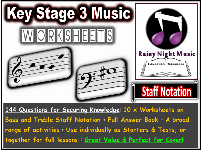Music Worksheets Staff Notation