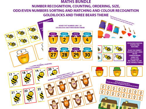 MATHS FOR EARLY YEARS BUNDLE - GOLDILOCKS AND THREE BEARS THEME