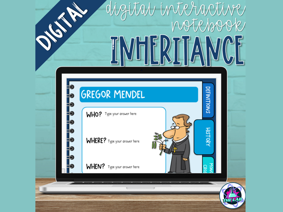 Inheritance & Genetics Digital Interactive Notebook