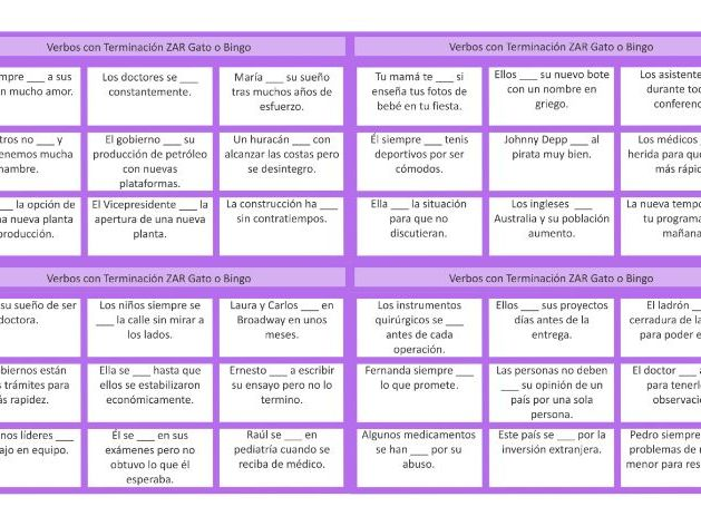 Verbs Ending in CAR 2 Spanish Tic-Tac-Toe or Bingo Game by