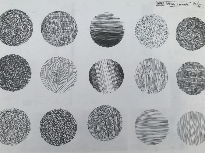 Markmaking Drawing Examples - KS3 / KS4