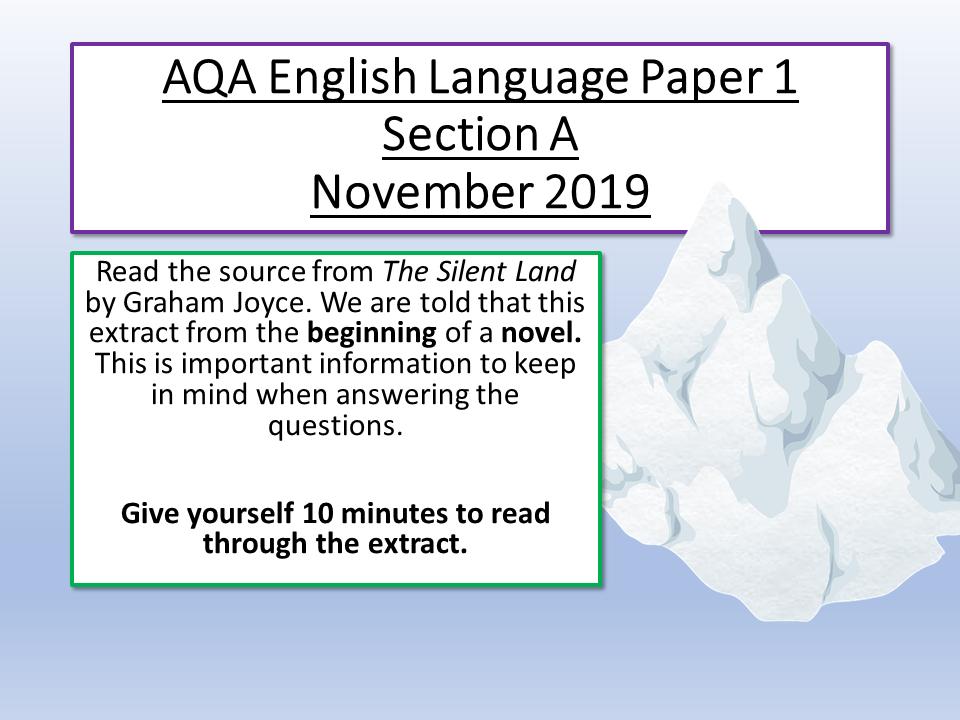 AQA English Language Paper 1 November 2019