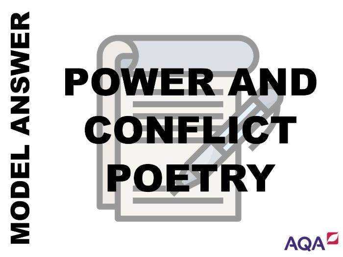 GCSE English Literature - Poetry Grade 7,8 and 9 Model Answers