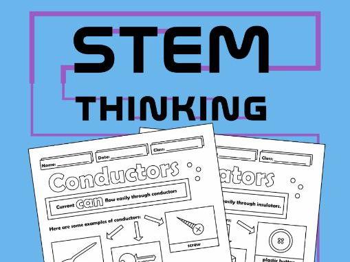 Conductors and Insulators Physics Doodle Notes