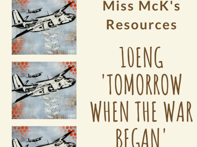 'Tomorrow When The War Began' Novel Study