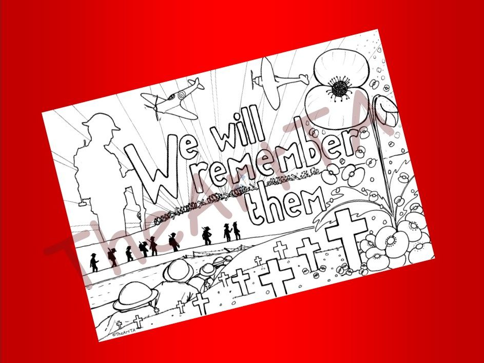 Remembrance Day Colouring Sheet/Poster