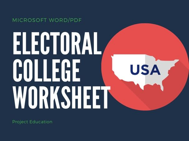 Electoral College Worksheet