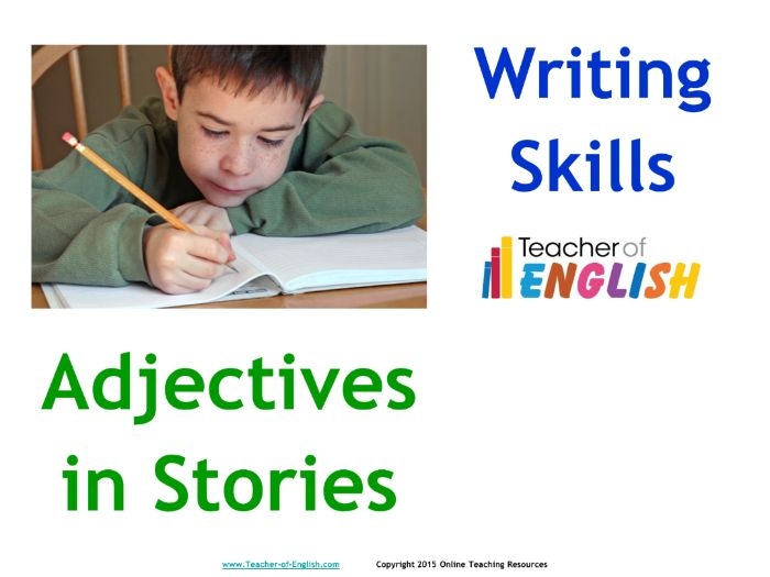 Adjectives in Stories (PowerPoint and worksheets)