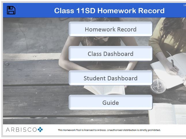 Arbisco Homework Tracker & Dashboards