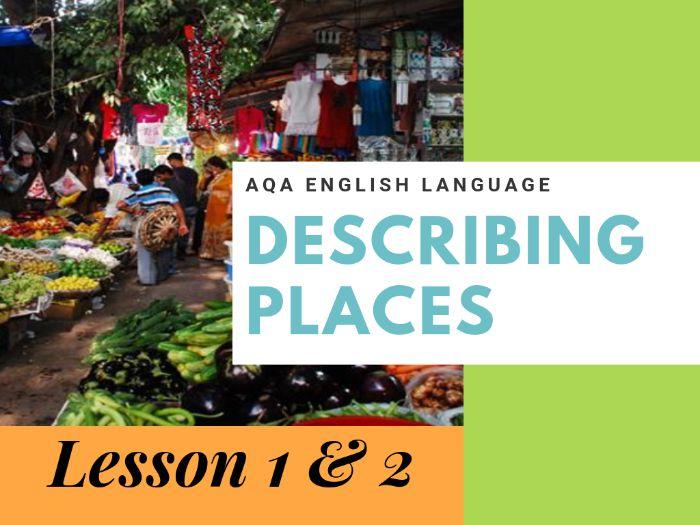 Descriptive Snapshot Writing - Describing Places (Markets) Lesson 1 and 2
