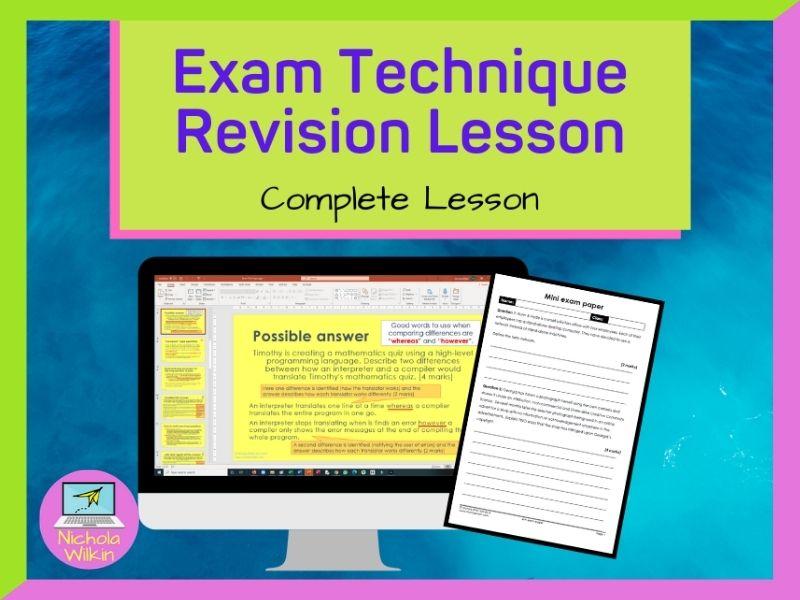 Exam Technique GCSE 9-1 Computer Science Revision