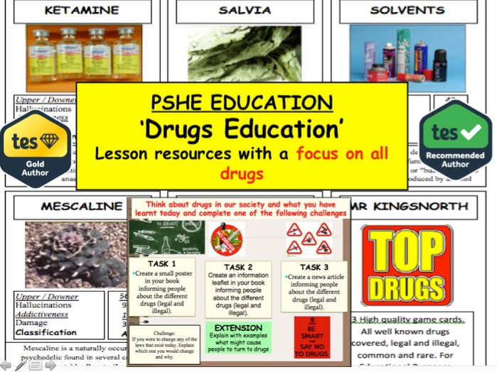Drugs Education - 2 hour session on different types of drugs + Top Drugs Cards
