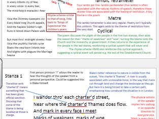 GCSE/A-Level revision Blake's 'London'