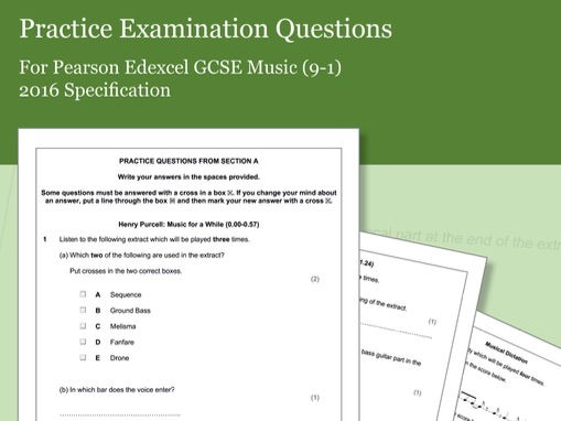 Practice Listening Questions for Pearson Edexcel GCSE Music (2016 Specification) - Area of Study 2