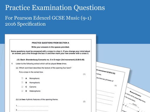 Practice Listening Questions for Pearson Edexcel GCSE Music (2016 Specification) - Area of Study 1