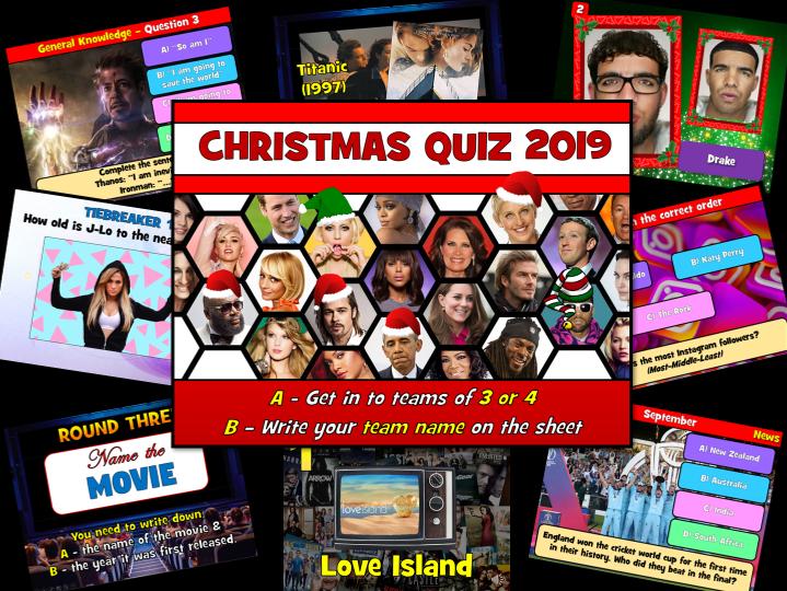 Christmas Quiz 2019  - FREE