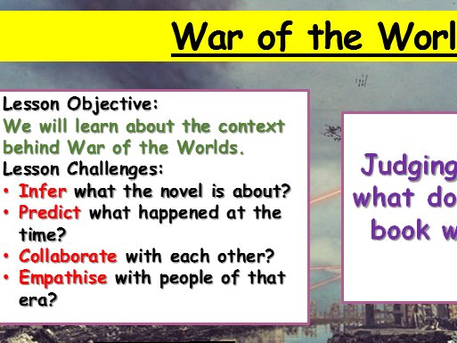 War of the Worlds -Context Lesson