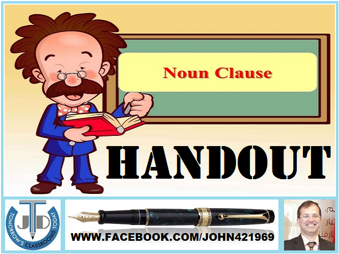 NOUN CLAUSE: HANDOUT