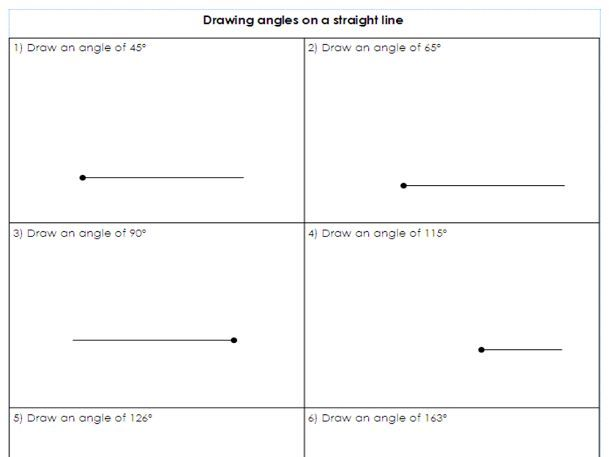 Line Drawing Ks2 : Year drawing angles on a straight line