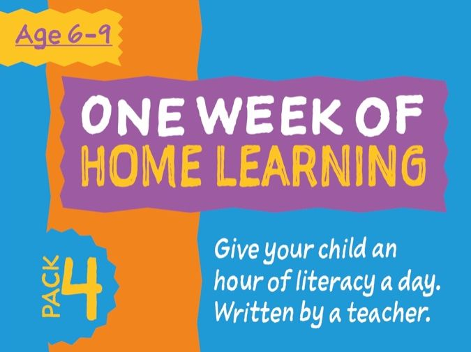 1 Week Literacy Distance Learning: PACK FOUR (age 6-9)