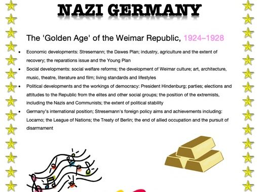 AN EASY GUIDE TO AN A*: A-LEVEL:  THE 'GOLDEN AGE' OF THE WEIMAR REPUBLIC - 1924-28