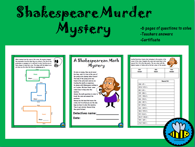 Shakespeare Math Mystery