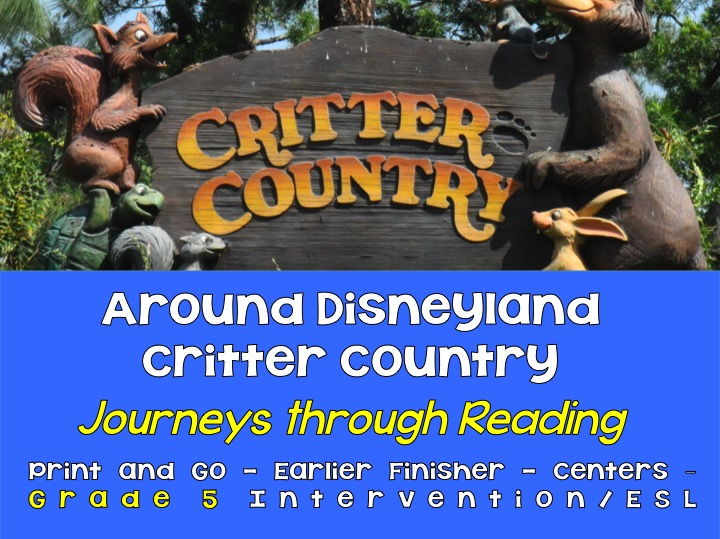 Journeys through Reading: Grade 5 - Critter Country -Early Finishers, ELD, Centers, Intervention,