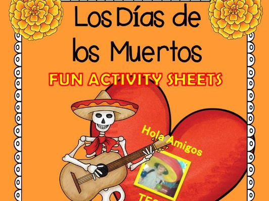 Los Días de los Muertos - Student learning sheets, color by number & more